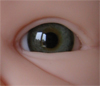 Mouth blown doll eyes. Color: GREEN