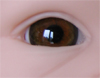 Mouth blown doll eyes. Color: HAZEL